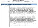 clinical quality measures comparison of onc and hl7 and cchit criteria and hitpc c awg testimony2