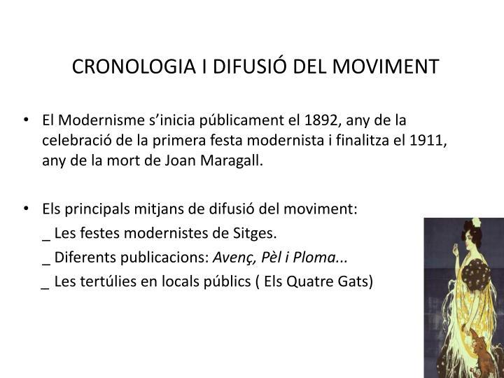 CRONOLOGIA I DIFUSIÓ DEL MOVIMENT