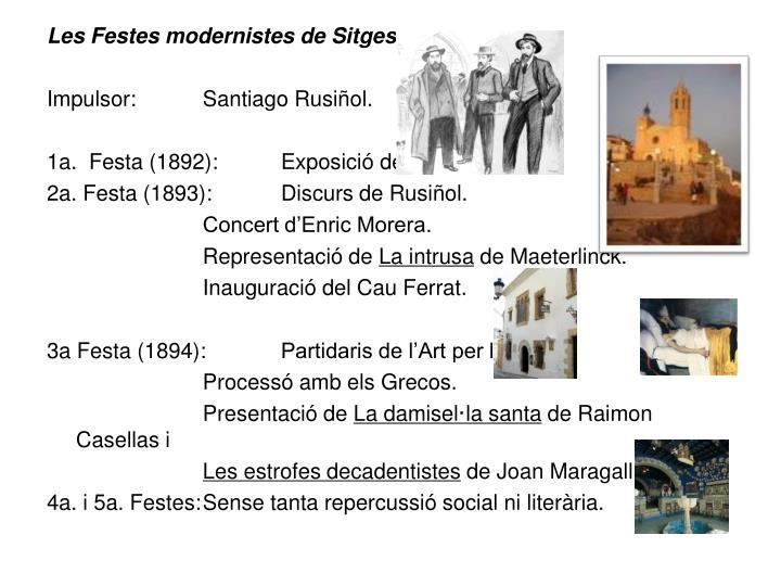 Les Festes modernistes de Sitges