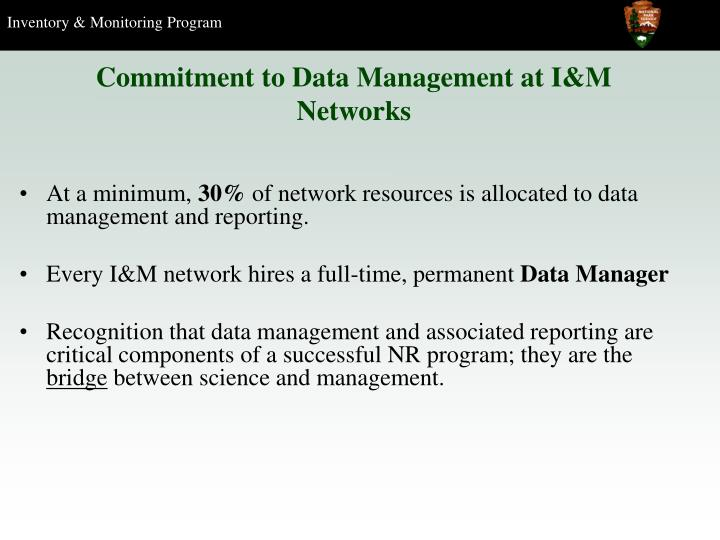 Commitment to Data Management at I&M Networks