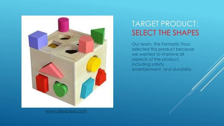 Target product select the shapes