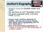 author s biography