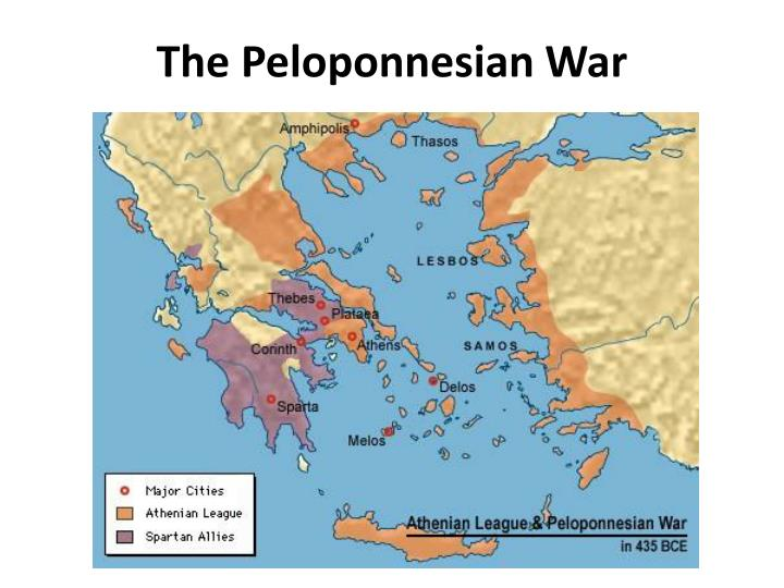 "an analysis of the peloponnesian war ""lysistrata"" is a bawdy anti-war comedy by the ancient greek playwright aristophanes, first staged in 411 bceit is the comic account of one woman's extraordinary mission to end the peloponnesian war, as lysistrata convinces the women of greece to withhold sexual privileges from their husbands as a means of forcing the men to negotiate a peace."
