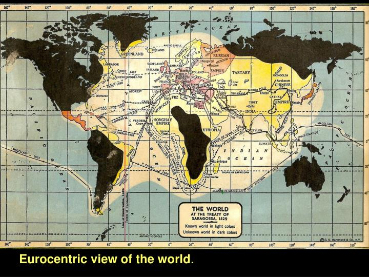 Eurocentric view of the world