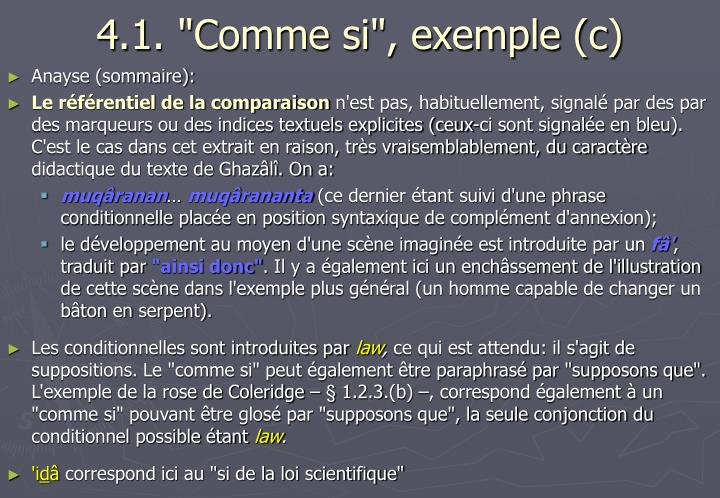 "4.1. ""Comme si"", exemple (c)"
