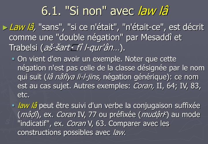"""6.1. """"Si non"""" avec"""