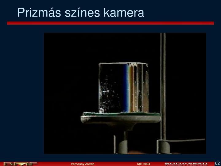 Prizmás színes kamera