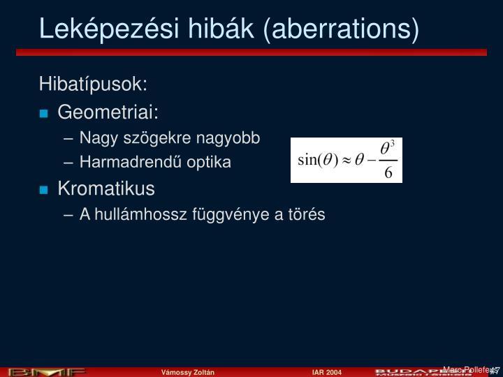 Leképezési hibák (aberrations)