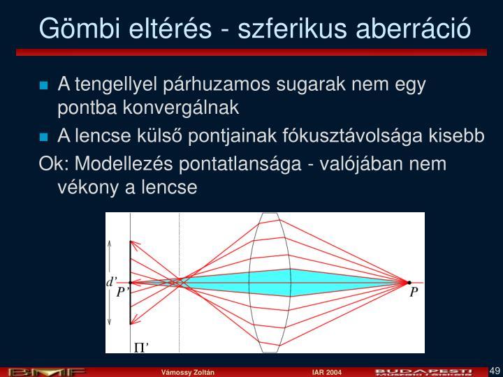 Gömbi eltérés - szferikus aberráció