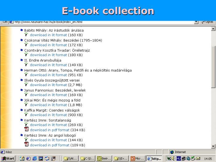 E-book collection