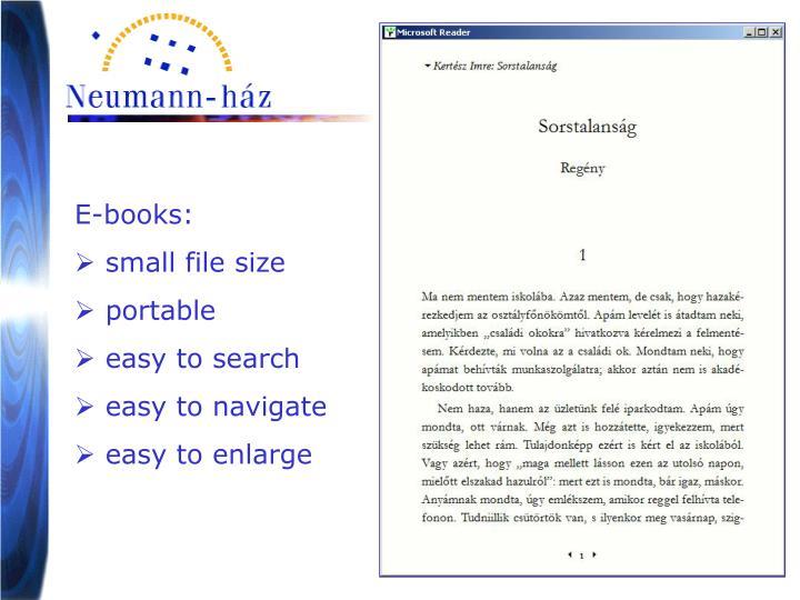 E-books: