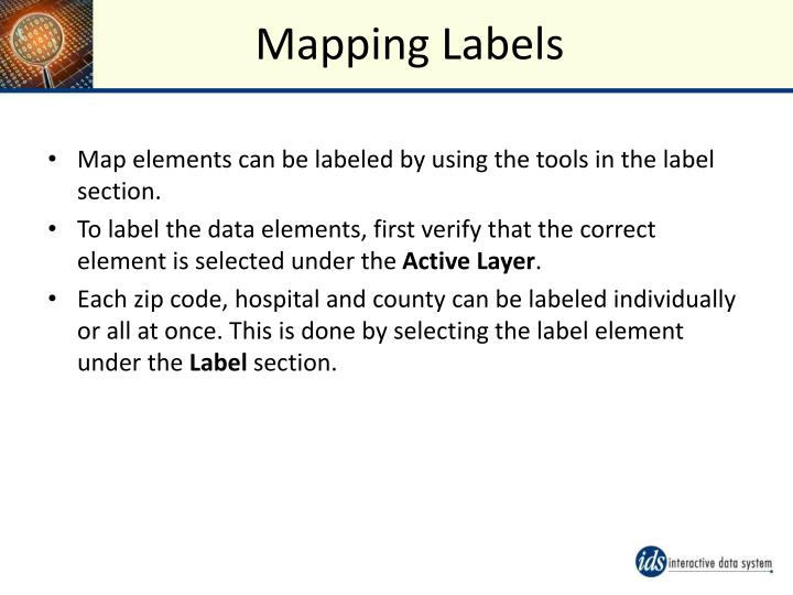 Mapping Labels