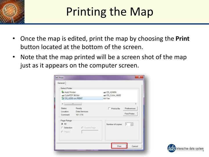 Printing the Map