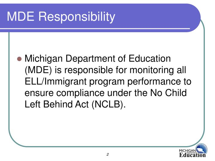 MDE Responsibility