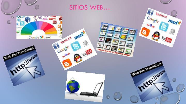 SITIOS WEB…