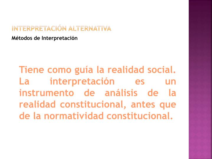 Interpretación alternativa