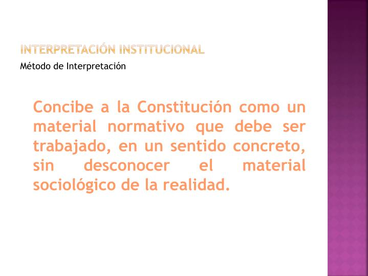 Interpretación institucional