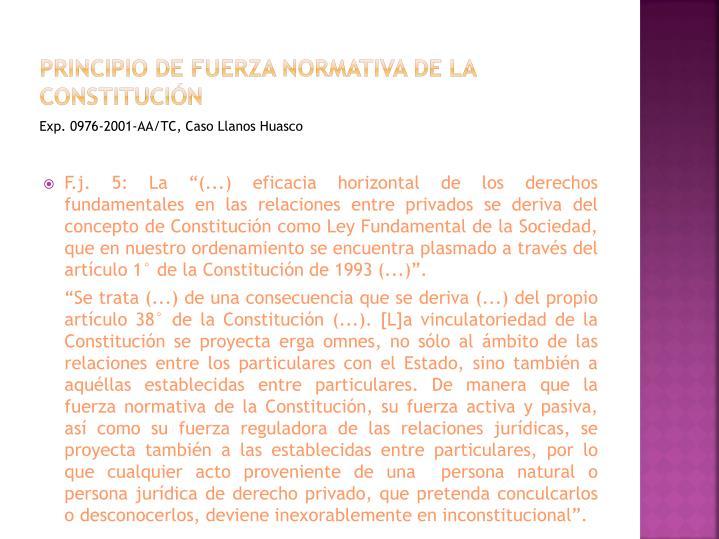 Principio de fuerza normativa de la constitución