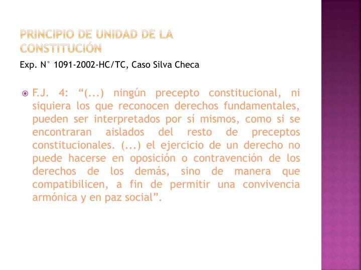 Principio de unidad de la constitución