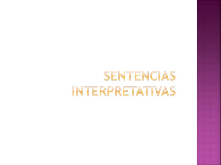 Sentencias interpretativas