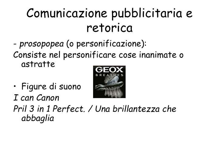 Comunicazione pubblicitaria e retorica
