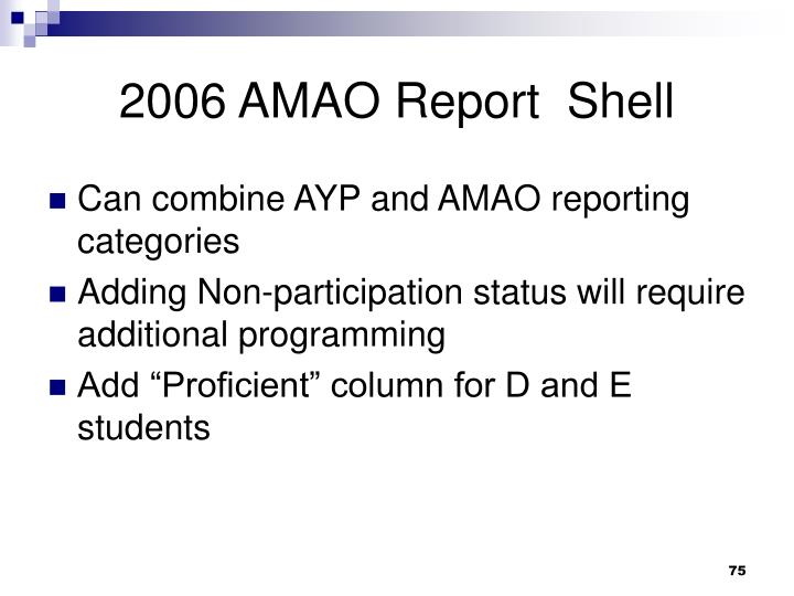 2006 AMAO Report  Shell