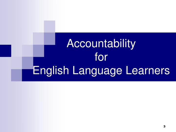 Accountability for english language learners