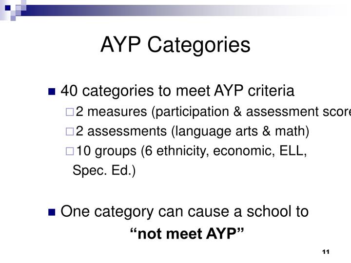 AYP Categories