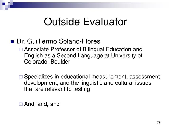 Outside Evaluator