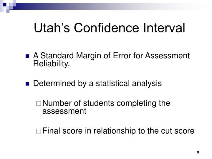 Utah's Confidence Interval