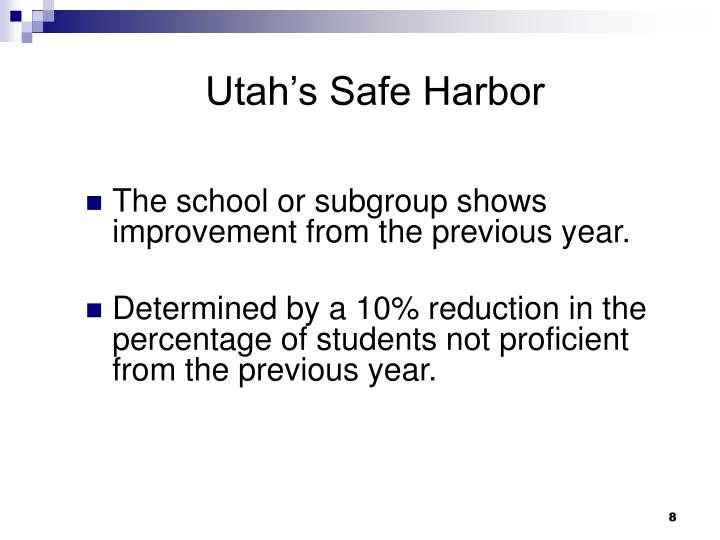 Utah's Safe Harbor