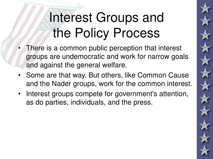 Interest Groups and