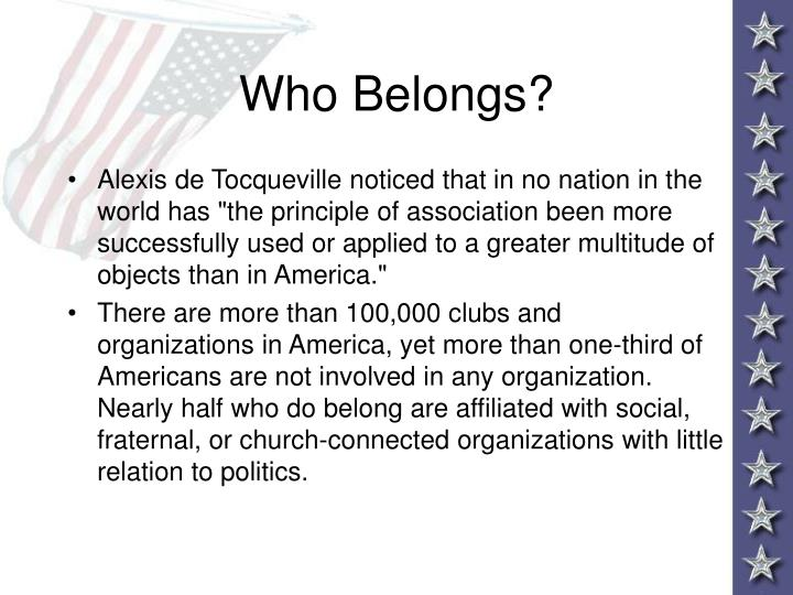Who Belongs?