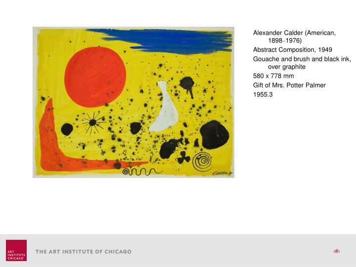 Alexander Calder (American, 1898