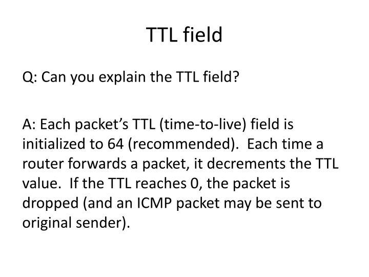 TTL field