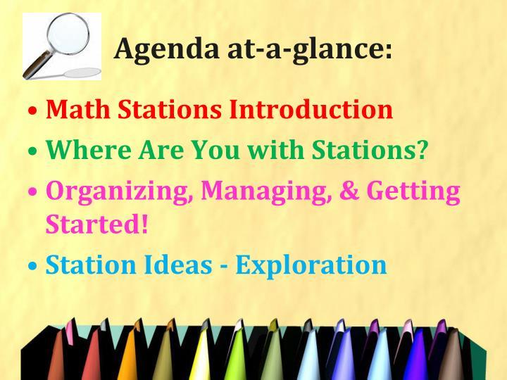Agenda at-a-glance: