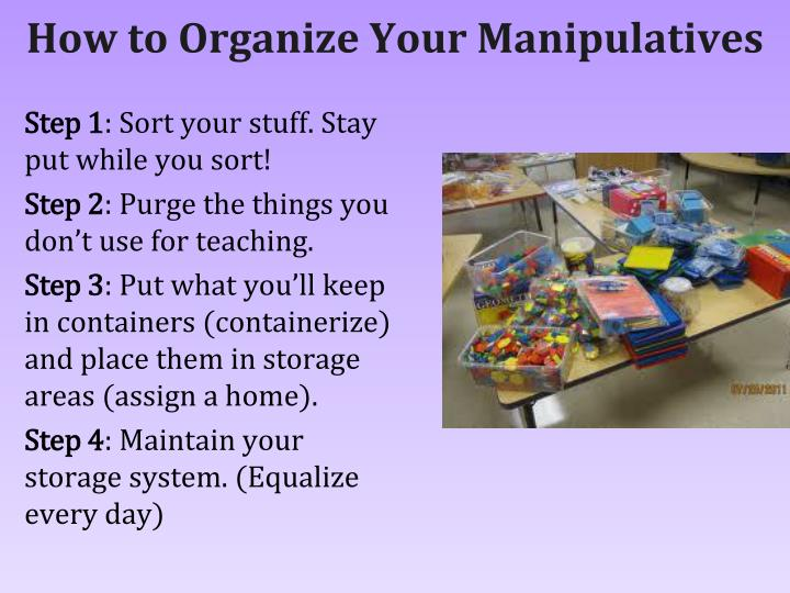How to Organize Your Manipulatives