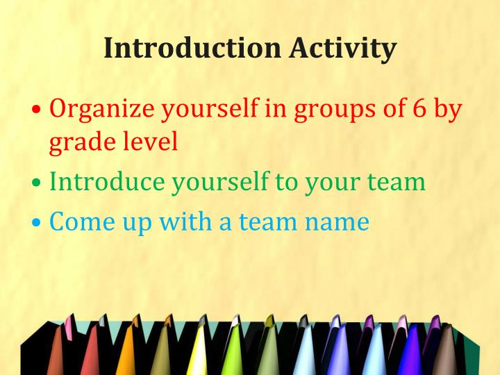 Introduction Activity