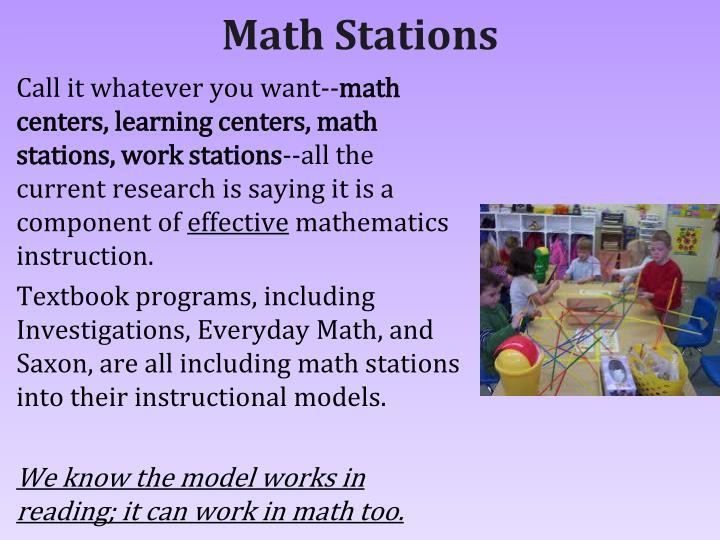 Math Stations