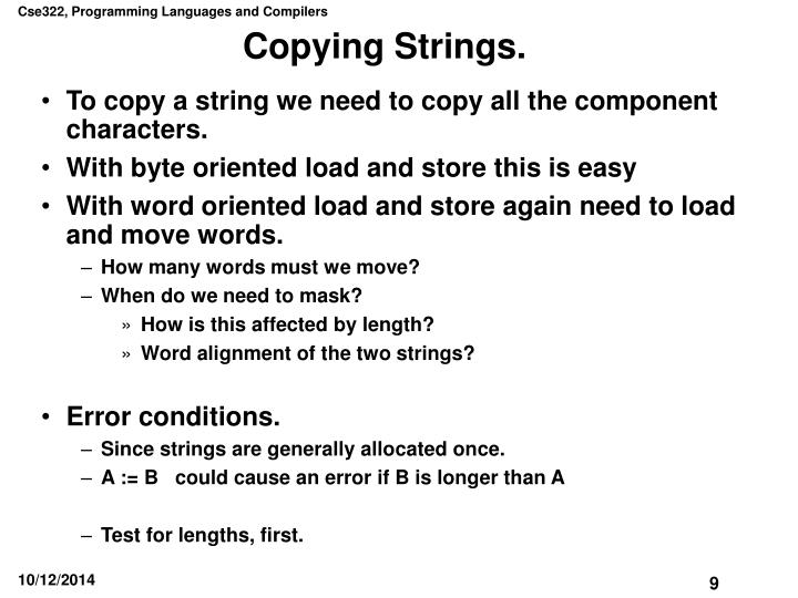 Copying Strings.