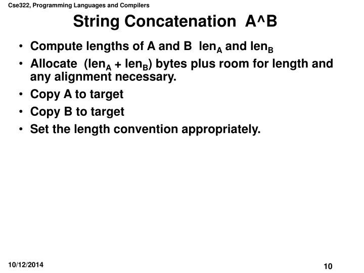 String Concatenation  A^B