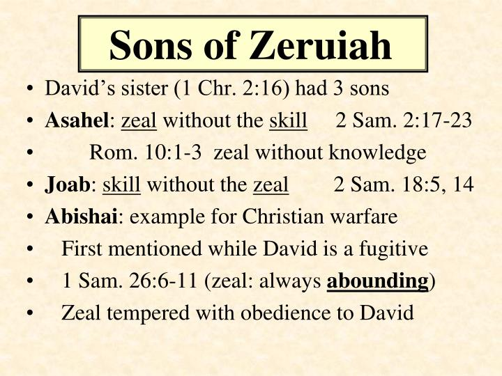 Sons of zeruiah