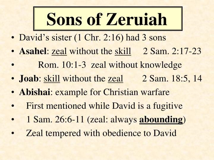 Sons of Zeruiah