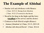 the example of abishai