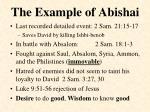 the example of abishai1