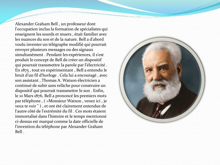 Alexander Graham Bell , un