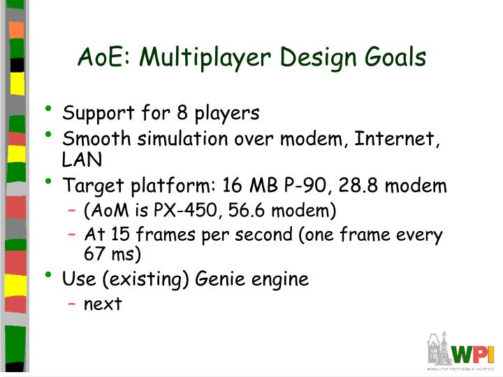 AoE: Multiplayer Design Goals