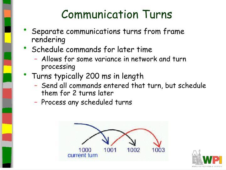 Communication Turns
