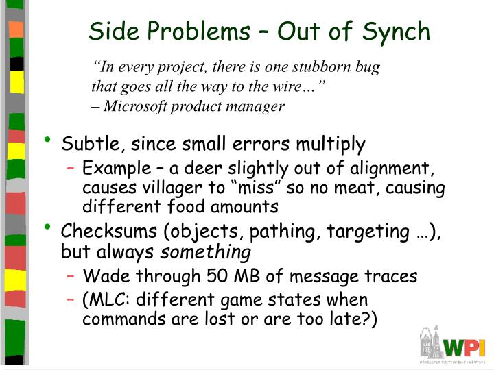 Side Problems – Out of Synch