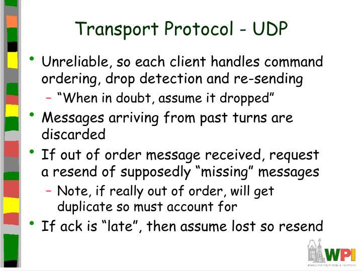 Transport Protocol - UDP
